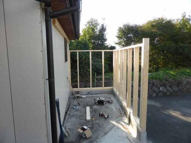 クワガタ小屋 木工事開始