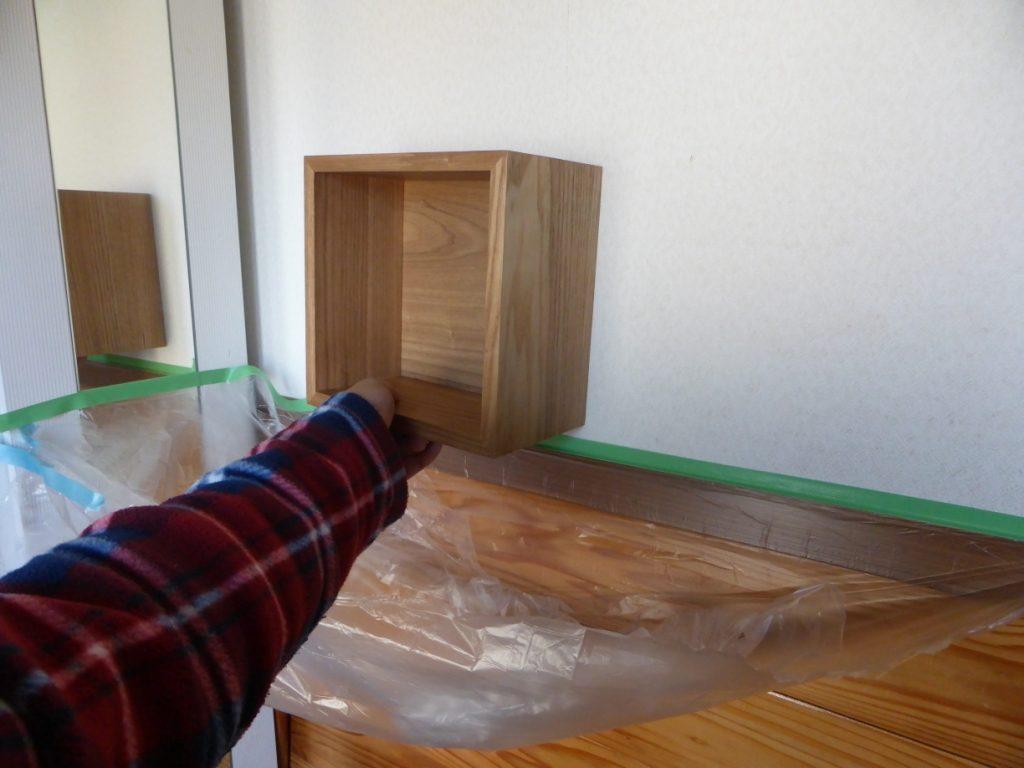 ニッチ棚の取り付け位置確認