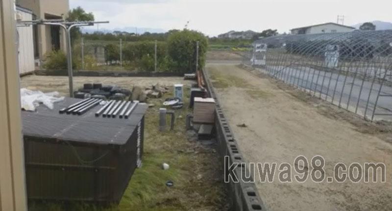 フェンス施工予定位置
