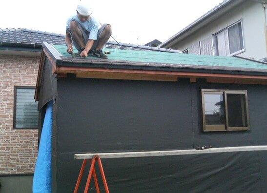 屋根手伝い