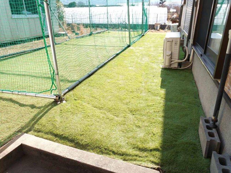 人工芝敷設全景