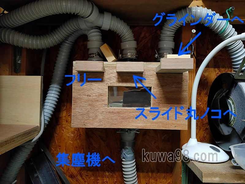 自作DIY集塵セレクター